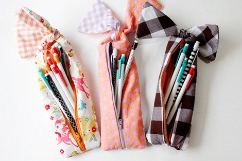 Back to School - knotted pencil pouch sewing tutorial