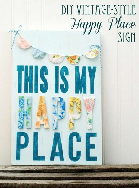 DIY-Vintage-Style-Happy-Place-Sign-669x900