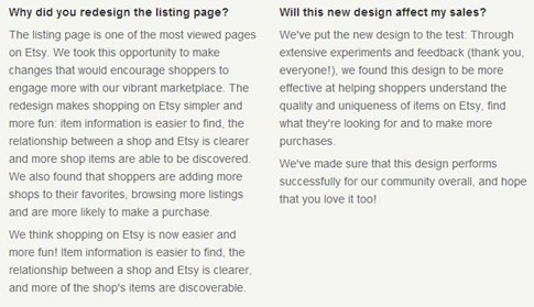 Etsy's new listing page info @everythingetsy