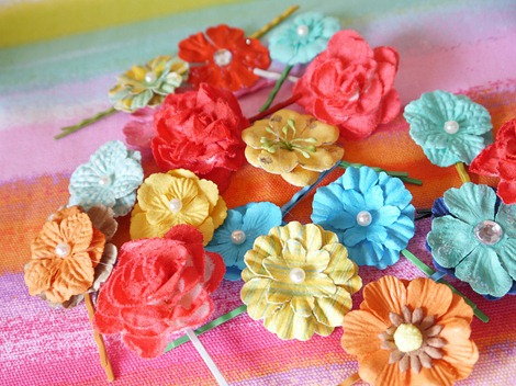 Flower Hair Pins 12