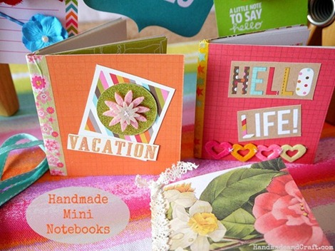 Handmade Mini Notebooks {DIY}