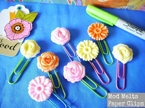 Mod Melts Paper Clips - DIY Gift