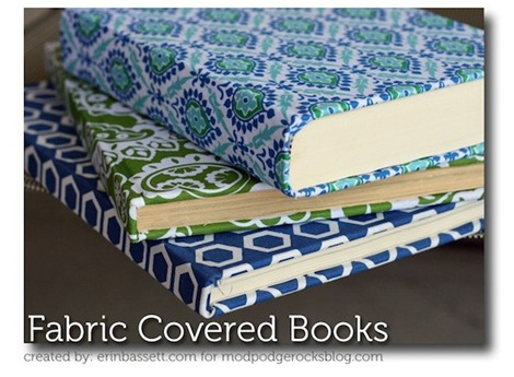 Mod-Podge-Fabric-Covered-Books
