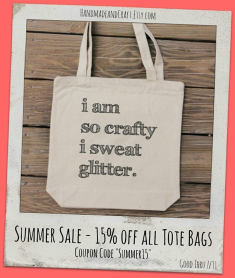 Summer Sale at HandmadeandCraft on Etsy