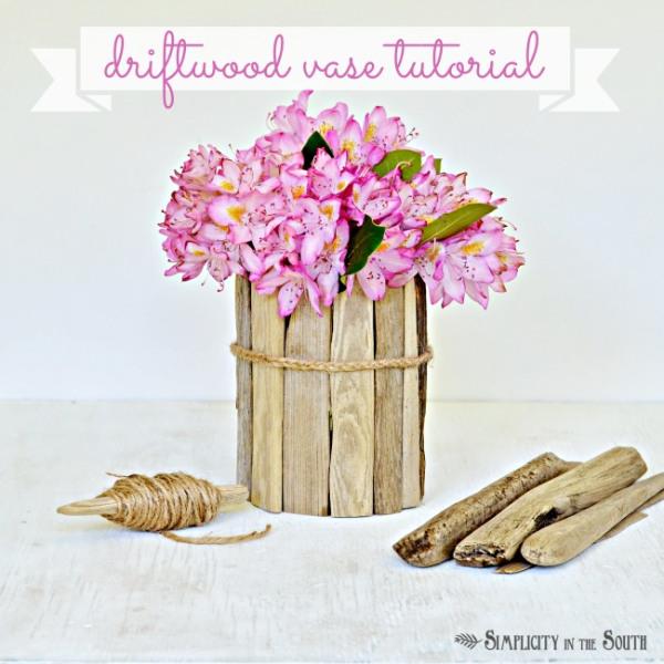 Use-driftwood-to-make-a-flower-vase