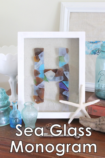sea glass monogram tutorial