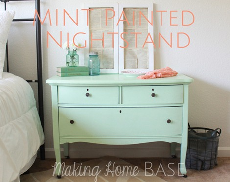 upcycled-mint-painted-nightstand
