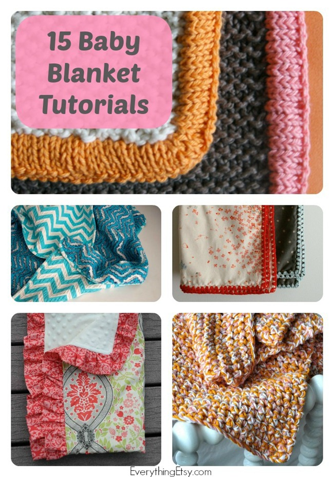 15 Baby Blanket Tutorials - Handmade Gift on EverythingEtsy.com