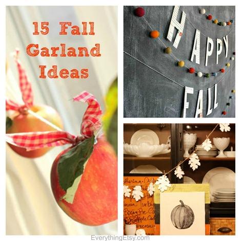 15 Fall Garland Ideas - DIY Decor @EverythingEtsy