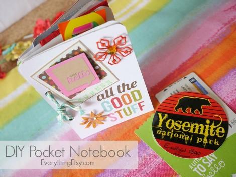 DIY Pocket Notebook - EverythingEtsy.com