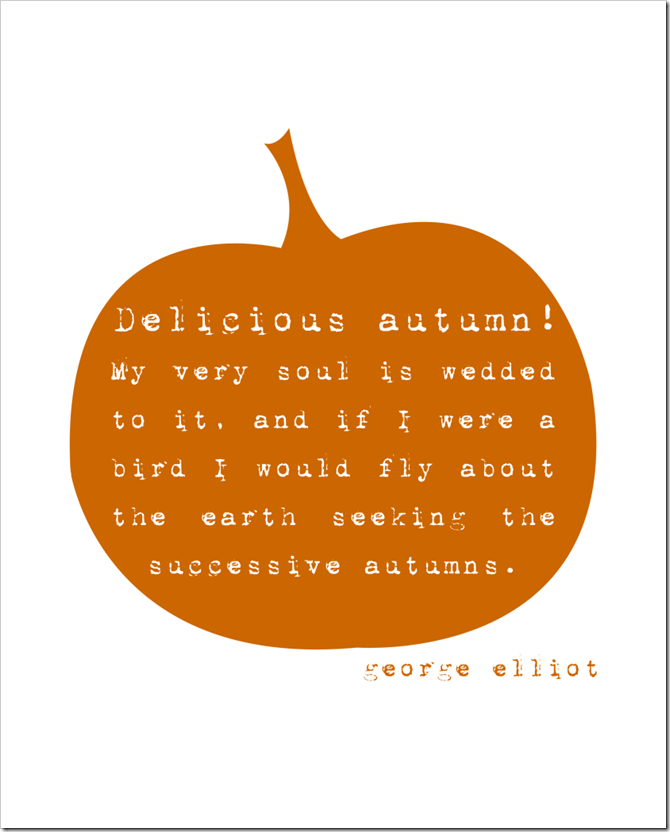 Fall - Free Printable - DeliciousAutumn