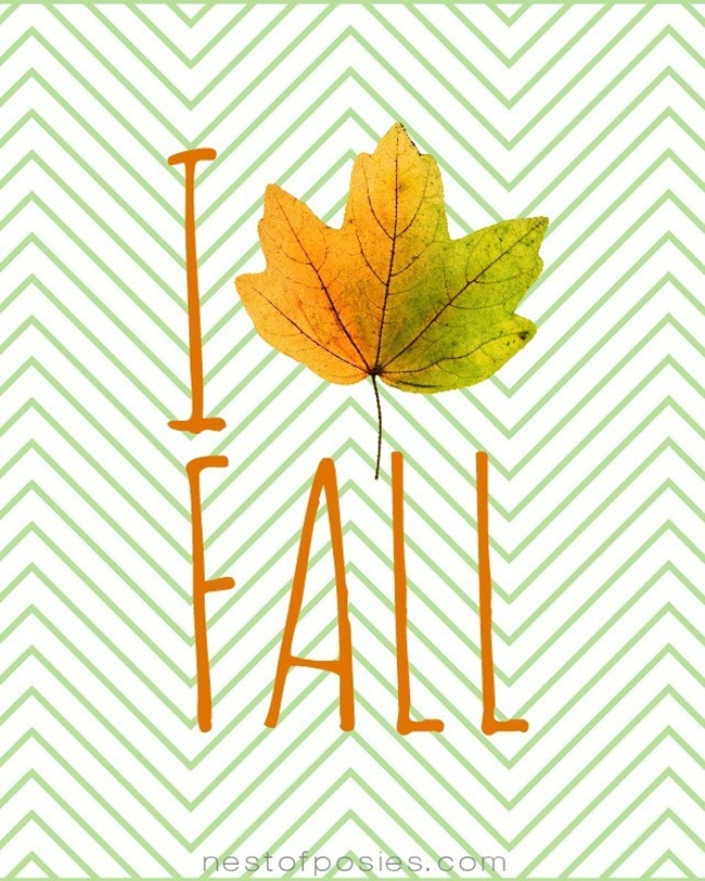 Fall Printables - I-Love-Fall-Leaf-Printable-