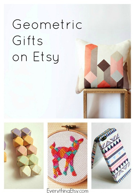 Geometric Gifts on Etsy - Handmade Goodness @EverythingEtsy