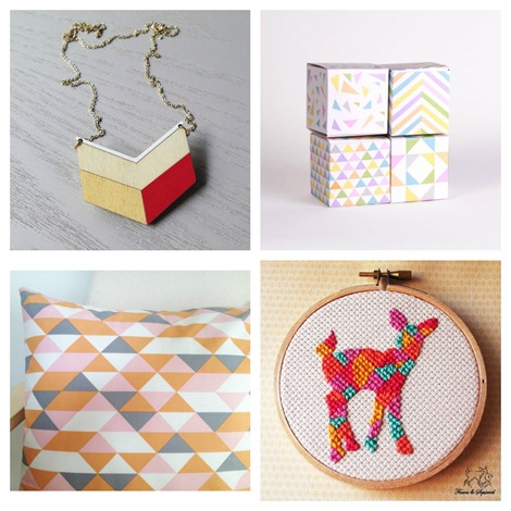 Geometric Love on Etsy