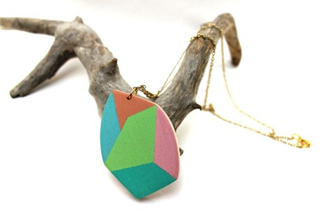 Geometric Necklace on Etsy