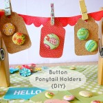 Button Ponytail Holders {Handmade Gift}