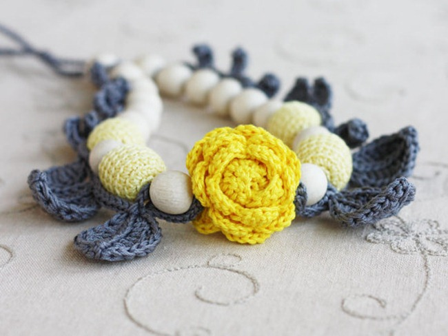 Handmade Gifts for Her on Etsy - Crochet Necklace
