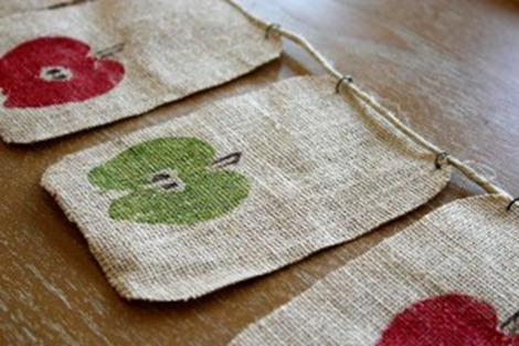 fall apple print garland