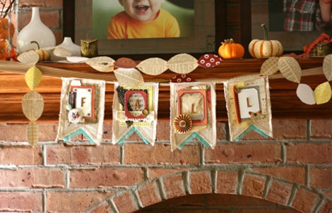fall burlap garland diy