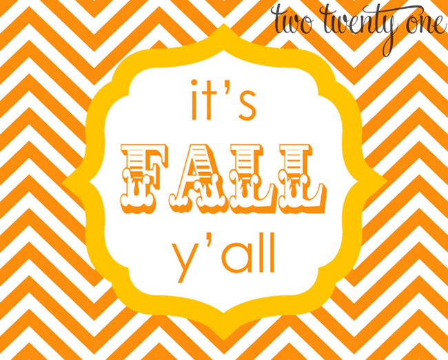 fall printables - its fall yall orange and yellow