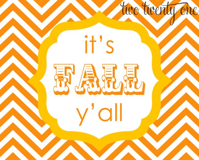 fall printables - its fall yall orange and yellow