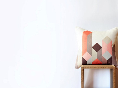 geometric pillows on etsy