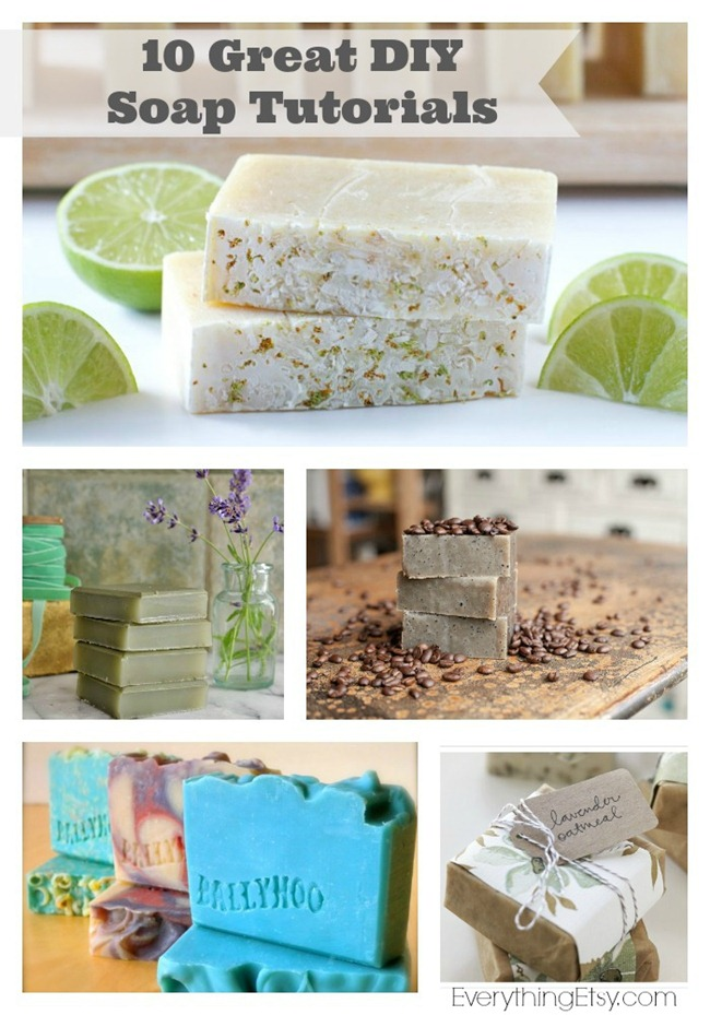 10 DIY Soap Tutorials - Great DIY Gifts! @EverythingEtsy