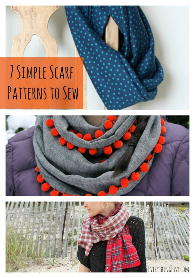 7 Simple Scarf Patterns to Sew - @EverythingEtsy