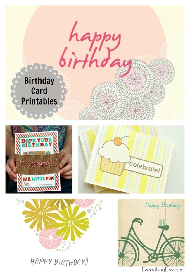 8 Free Birthday Card Printables - You'll want to save this!!!!  #printable #card #birthday #free