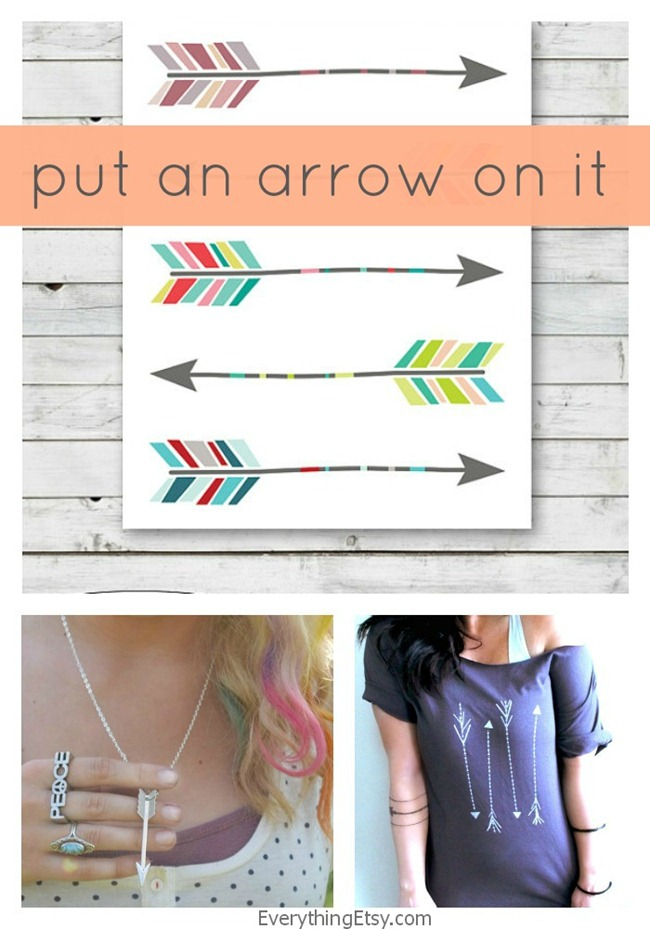 Arrow Collection on Etsy - put an arrow on it - EverythingEtsy.com