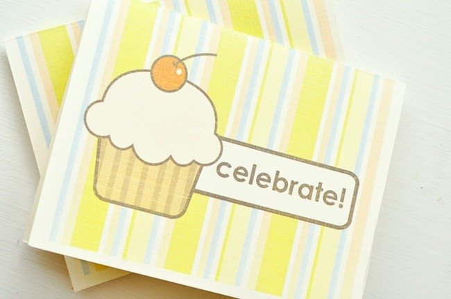 Birthday card printable - Cupcake
