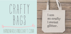 Crafty Tote Bags on Etsy