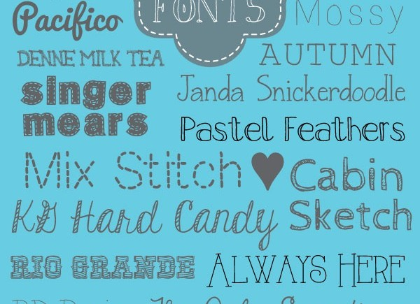 25 Crafty Fonts {free}