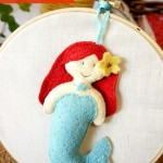Felt Little Mermaid Pattern {Plushie & Ornament}