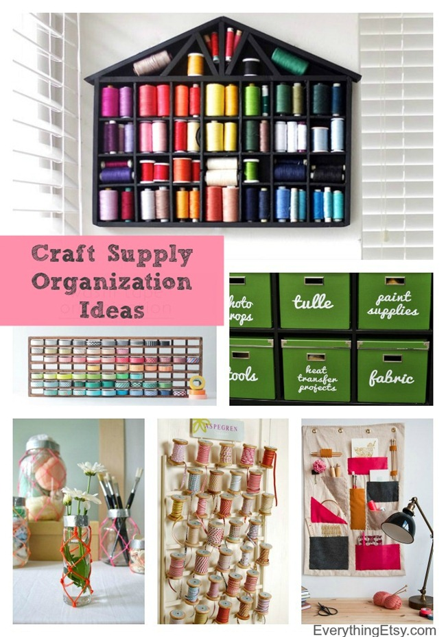 Organize Your Craft Supplies - Fresh Ideas to Inspire! EverythingEtsy.com