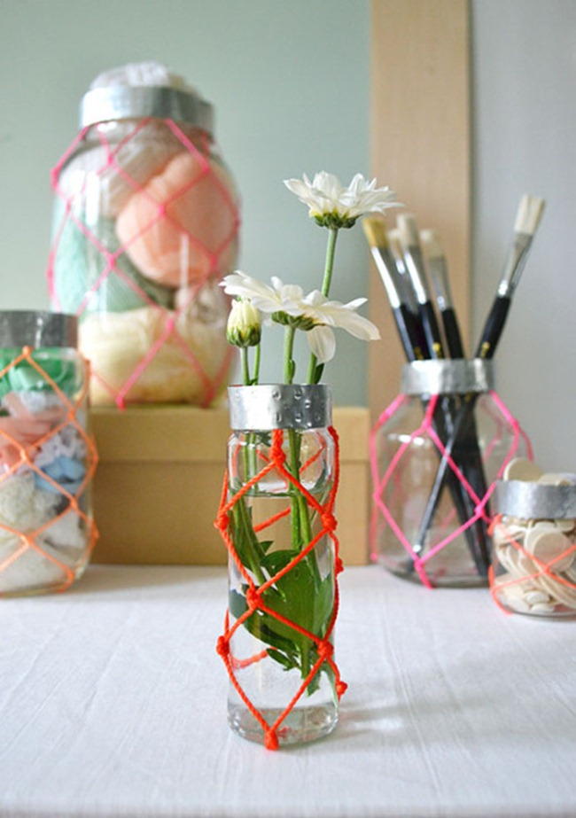 Organize your craft supplies - sugar and cloth