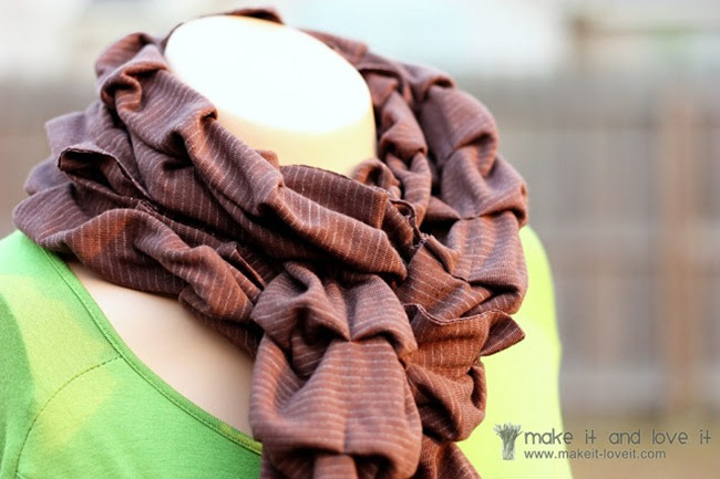 Pleated Knit Scarf - Make It Love It