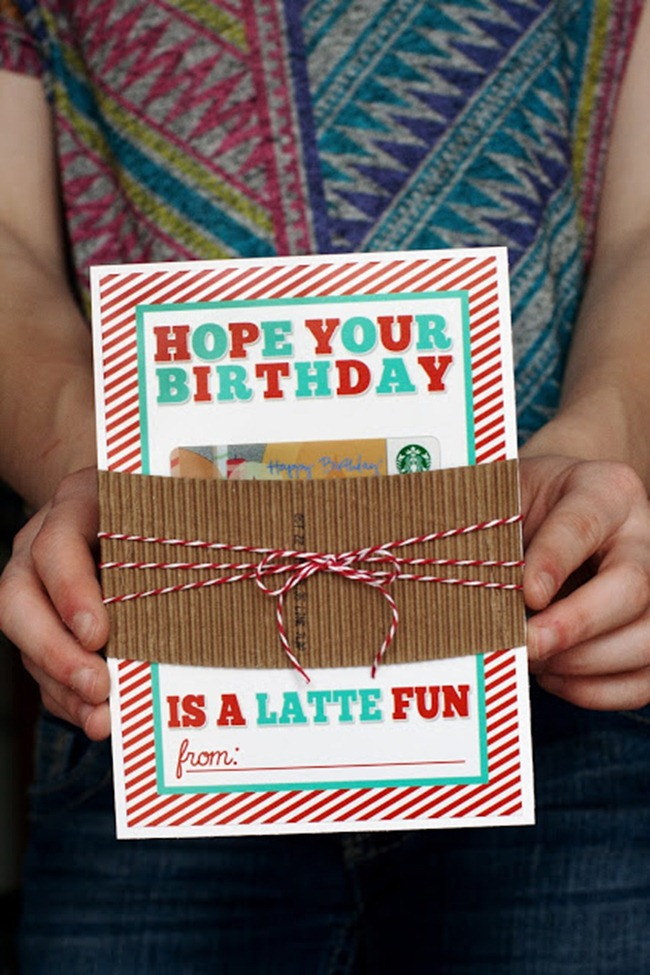 birthday card printable - latte - Eighteen 25