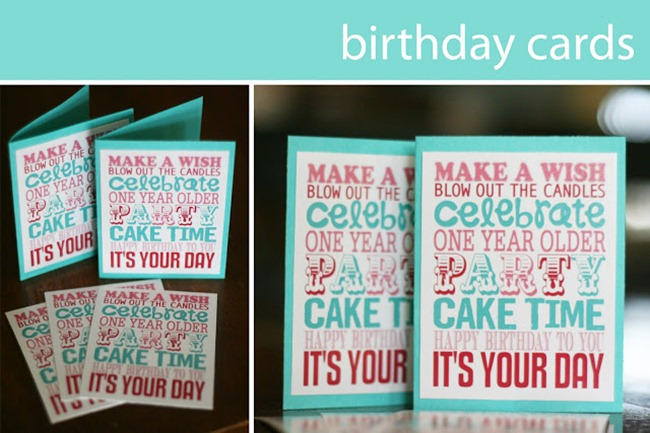 Birthday Card Printables Print