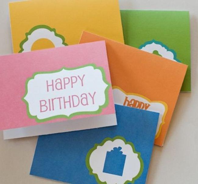 free birthday card printable - over the moon
