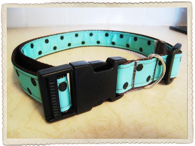handmade dog collar - b spoke