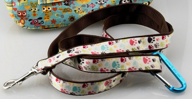 handmade dog leash - totally stitchin