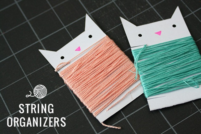 organize your craft supplies - embroidery thread