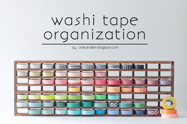 organize your craft supplies - washi tape