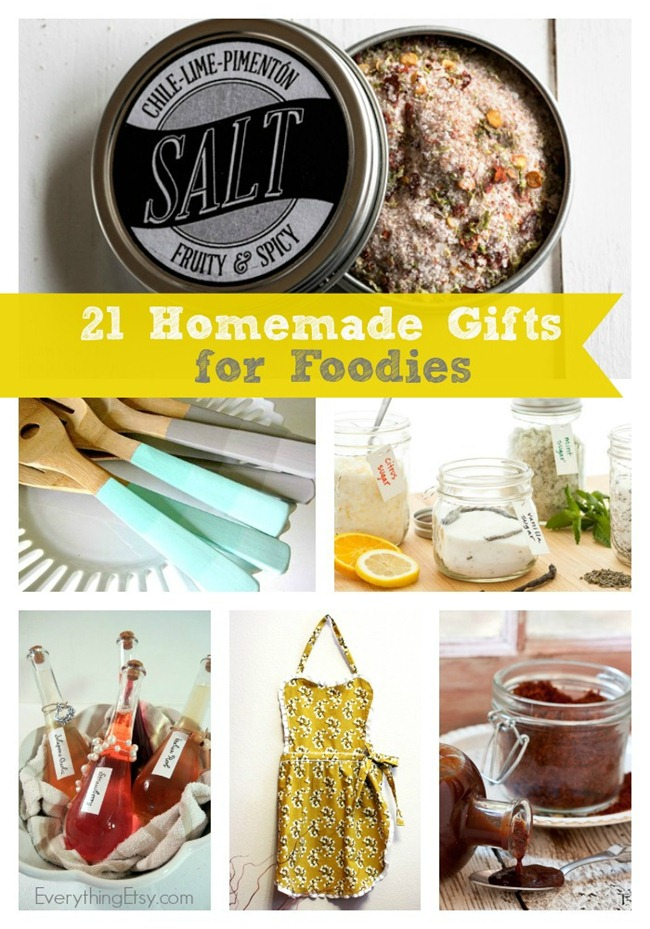 21 Homemade GIfts for Foodies on EverythingEtsy.com