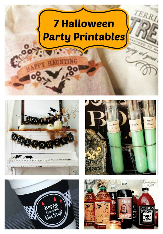 7 Halloween Party Printables {free}...this is awesome!
