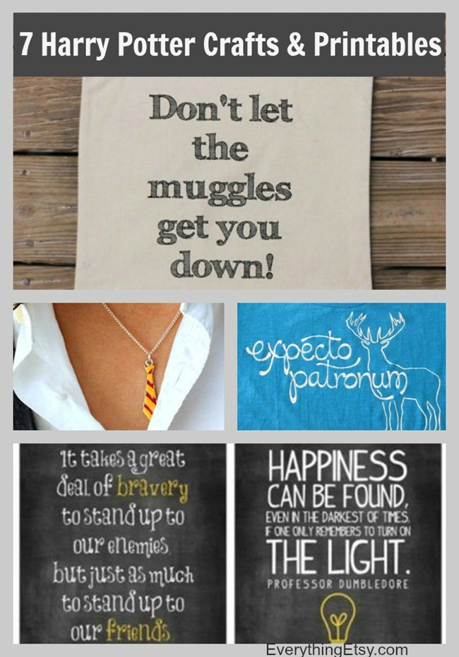 7 Harry Potter Craft Ideas Printables Everythingetsy Com