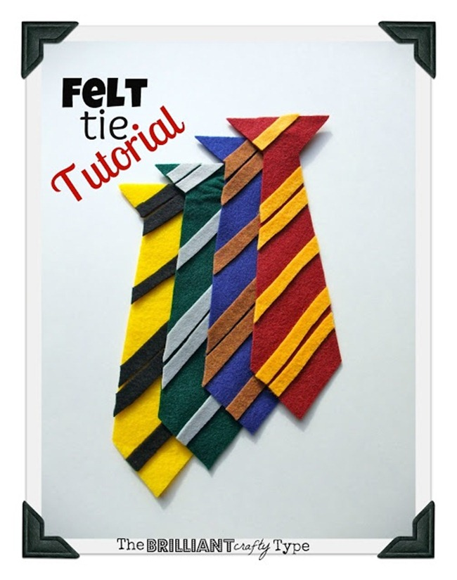 Harry Potter Craft - Felt Tie