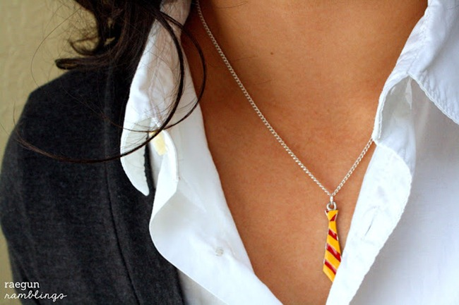Harry Potter Craft Ideas - Tie Necklace