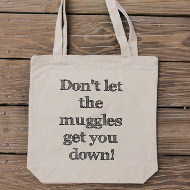 Harry Potter Fan Gift - Handmade Tote Bag from HandmadeandCraft on Etsy